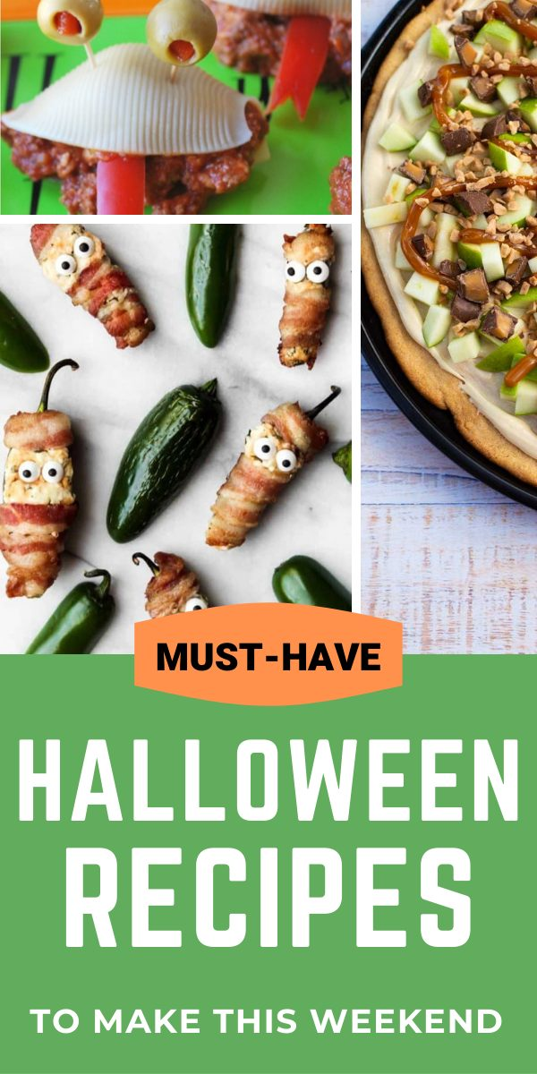 Must-Have Halloween recipes to make this weekend: Sloppy Joe Monsters, Mummy Jalapeno Poppers, Caramel Apple Pizza